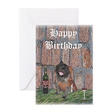 Merrie Cairn Terrier Monk Birthday Card