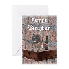 Indlulgent Cairn Terrier Monk Birthday Card