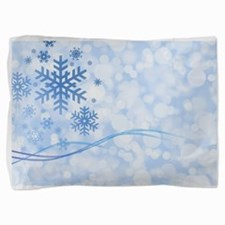 Blue Snowflake Pillow Sham
