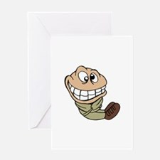 CARTOON IN STRAIGHT JACKET Greeting Cards