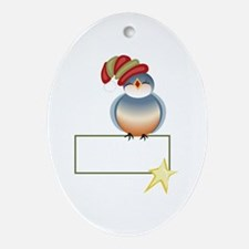 BLUEBIRD GIFT TAG Ornament (Oval)