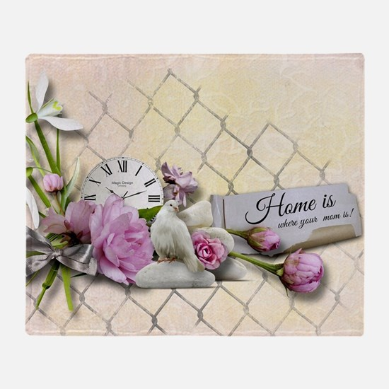 Home is where your mom is! Throw Blanket