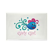 GIRLY GIRL FISH Magnets