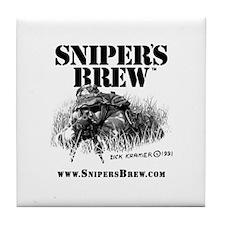 Sniper's Brew Tile Coaster