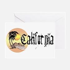 California Sun Greeting Card