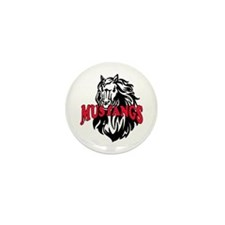 MUSTANG MASCOT Mini Button (10 pack)