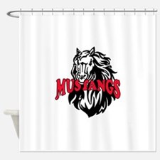MUSTANG MASCOT Shower Curtain