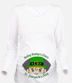 First St. Patrick's Day Long Sleeve Maternity T-Sh