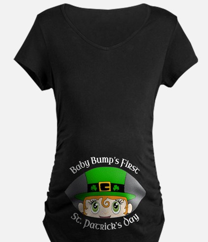 First St. Patrick's Day Maternity T-Shirt