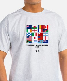 Rugby World Cup Flags Tshirt T-Shirt