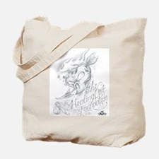 Skull Heart with Ribbon Tote Bag