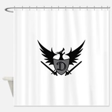 DRAGON SHEILD MASCOT Shower Curtain