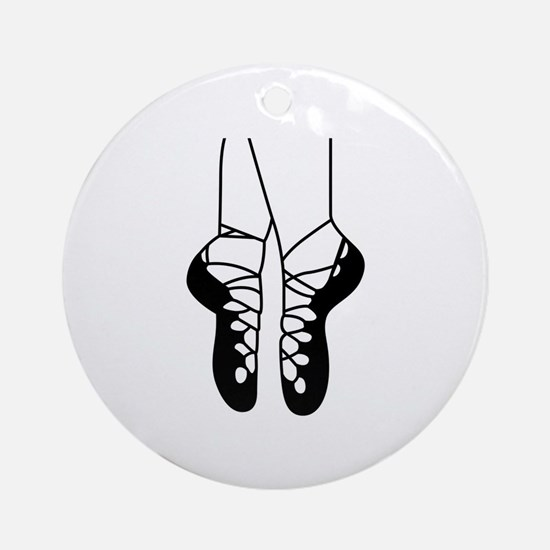 IRISH DANCE SHOES ONE COLOR Ornament (Round)