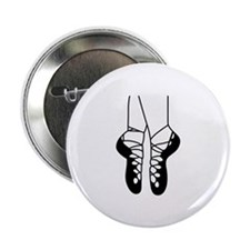 """IRISH DANCE SHOES ONE COLOR 2.25"""" Button (10 pack)"""