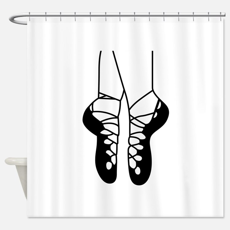 IRISH DANCE SHOES ONE COLOR Shower Curtain