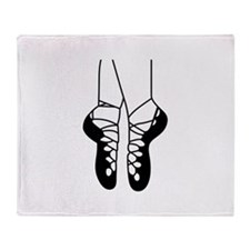 IRISH DANCE SHOES ONE COLOR Throw Blanket