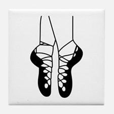 IRISH DANCE SHOES ONE COLOR Tile Coaster