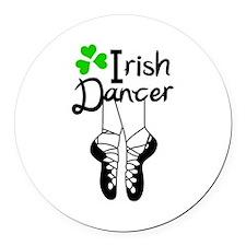 IRISH DANCER Round Car Magnet