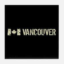 Canadian Flag: Vancouver Tile Coaster
