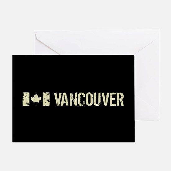 Canadian Flag: Vancouver Greeting Card