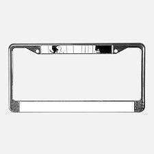 1920s vintage flappers black w License Plate Frame