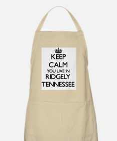 Keep calm you live in Ridgely Tennessee Apron