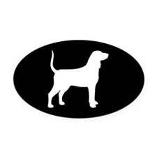 Bluetick Coonhound Oval Car Magnet