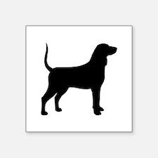 "Bluetick Coonhound Square Sticker 3"" x 3"""