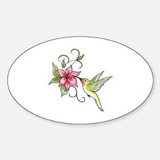 HUMMINGBIRD AND FLOWER Decal