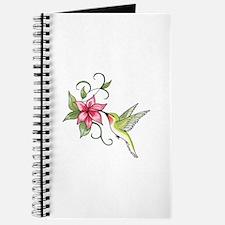 HUMMINGBIRD AND FLOWER Journal