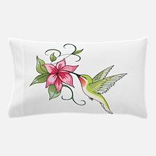 HUMMINGBIRD AND FLOWER Pillow Case