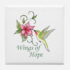 WINGS OF HOPE Tile Coaster
