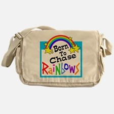 Born To Chase Rainbows Messenger Bag
