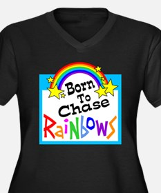 Born To Chase Rainbows Plus Size T-Shirt