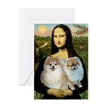 Mona's 2 Poms Greeting Card