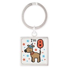 I'm 8 Square Keychain