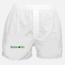 Boston Girl Shamrock (Green) Boxer Shorts
