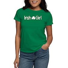 Irish Girl Shamrock (White) T-Shirt