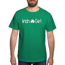 Irish Girl Shamrock Distressed (White) T-Shirt