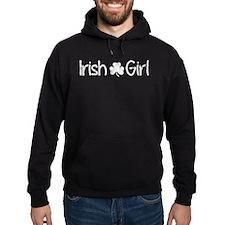 Irish Girl Shamrock Distressed (Whit Hoodie