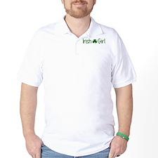 Irish Girl Shamrock Distressed (Green) T-Shirt