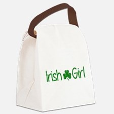 Irish Girl Shamrock Distressed (G Canvas Lunch Bag
