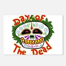 day of the dead Postcards (Package of 8)