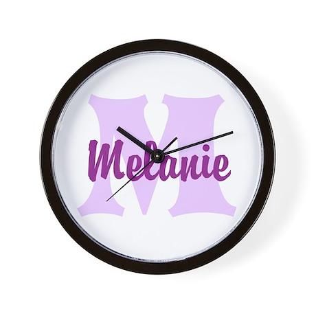 CUSTOM Lilac Purple Monogram Wall Clock