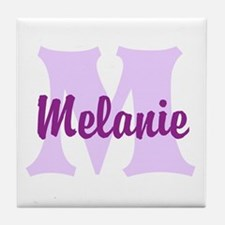 CUSTOM Lilac Purple Monogram Tile Coaster