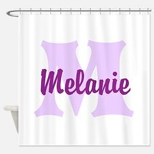 CUSTOM Lilac Purple Monogram Shower Curtain