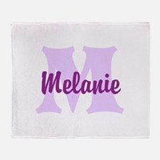 CUSTOM Lilac Purple Monogram Throw Blanket