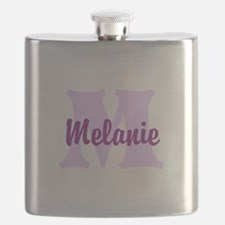 CUSTOM Lilac Purple Monogram Flask