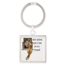 What matters most is how you see y Square Keychain
