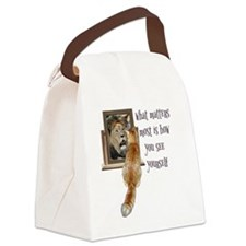 What matters most is how you see  Canvas Lunch Bag